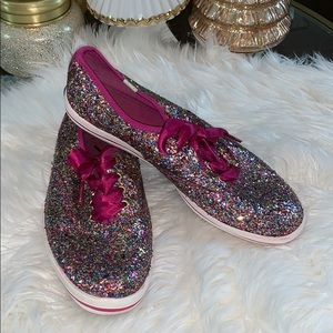 Kate Spade x Keds Multicolored Glitter Champions